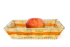 Free An Apple In The Basket Royalty Free Stock Image - 21189026