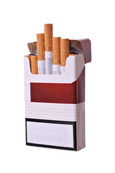 Free Open Pack Of Cigarettes Royalty Free Stock Photography - 21189507