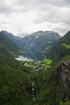 Free Geiranger Valley And Fjord Stock Images - 21189964