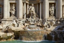 Free Fountain Di Trevi - Most Famous Rome S Fountains Royalty Free Stock Image - 21189966