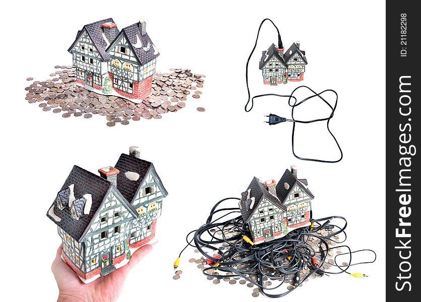 Cheap electrified house