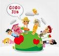 Free Cartoon People Job Seamless Pattern Stock Image - 21193841