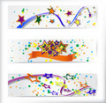 Free Set Of The 160x600 Abstract Banners. Royalty Free Stock Images - 21196709