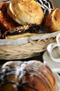 Free Delicious Bread In A Basket Stock Photography - 21199662