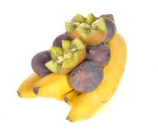 Free Fig And Kiwi On Bananas Royalty Free Stock Photography - 21190007