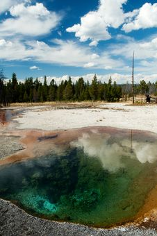 Free Yellowstone Hot Spring Pool Stock Photo - 21190280