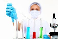 Free Female Scientist In A Chemistry Laboratory Stock Photo - 21190380