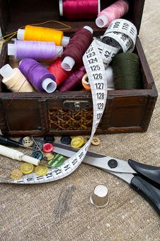 Free Sewing Supplies Royalty Free Stock Image - 21190496