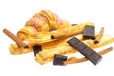 Free Crispy Sticks With Sesame And Croissant Stock Photo - 21191010