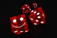 Free Four Red Dice Royalty Free Stock Images - 21191019