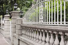 European-style Garden Fence Royalty Free Stock Images