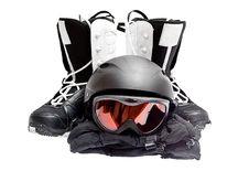 Free Snowboard Boots, Helmet, Gloves, Glasses Stock Photo - 21191360