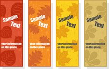 Free Autumn Bookmarks For Promotion Stock Photos - 21191753