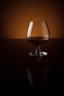 Free Glass Of Cognac With Copy Space Stock Image - 21192001
