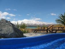Lake Tekapo Hot Pools Stock Photography