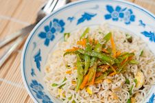 Oriental Style Noodles Royalty Free Stock Photography