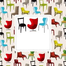 Free Cartoon Chair Furniture Card Stock Images - 21193834