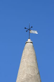 Stone Church Tower And The Weather Vane Royalty Free Stock Image