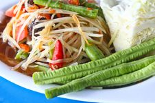 Free Papaya Salad Royalty Free Stock Photo - 21195285