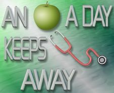 Free An Apple A Day Keeps Doctor Away Royalty Free Stock Photo - 21195295