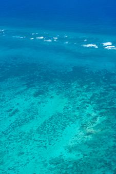 Caribbean Sea At Belize Royalty Free Stock Photos