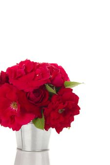Free Bucket Of Roses Royalty Free Stock Photos - 21196438