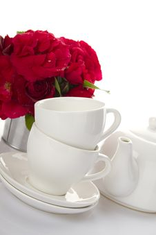 Free Utensils For Tea-drinking White Royalty Free Stock Image - 21196556