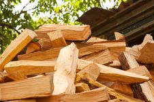 Free Wood Prepared For Winter Stock Image - 21196581