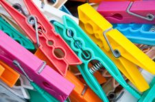 Free Pegs For Hanging Clothes Royalty Free Stock Photos - 21197258