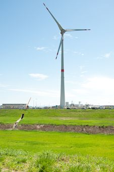 Free Wind Farm Royalty Free Stock Photos - 21197538