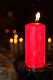Free Burning Candle Royalty Free Stock Photos - 21197728