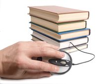 Books And Computer Mouse Stock Images
