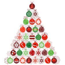 Christmas Tree Made Of Balls Stock Photography