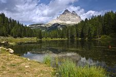 Free Lago Di Antorno With Tre Cime, Dolomites Italy Stock Images - 21198854