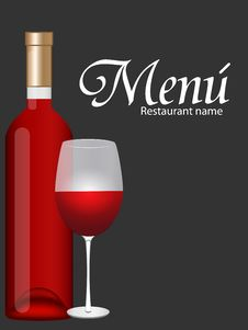 Free Wine Card Royalty Free Stock Photo - 21199545