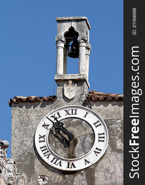 Old clock tower and the Venetian bells