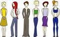 Free Illustration Of Six Women. Royalty Free Stock Photo - 2120565