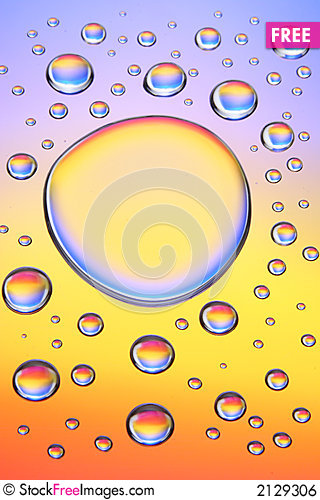Free Water Drops-E Royalty Free Stock Image - 2129306