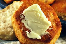 Free Buttered Biscuit Stock Photography - 2120142