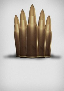 Free 5 Bullets Royalty Free Stock Photography - 2122607