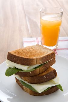 Free Egg White Sandwich Stock Image - 2123071