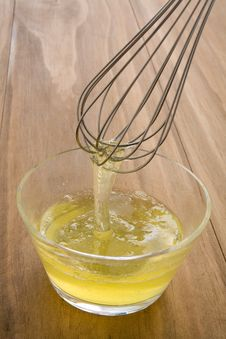 Whisking Raw Egg Whites Stock Images