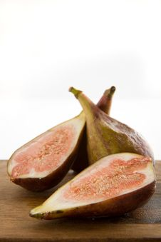 Fresh Figs On A Cutting Board Stock Photography