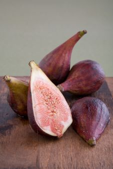 Fresh Figs On A Cutting Board Royalty Free Stock Photo