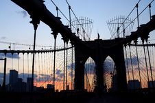 Free Brooklyn Bridge Royalty Free Stock Photography - 2124007