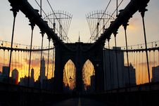 Free Brooklyn Bridge Royalty Free Stock Photo - 2125125