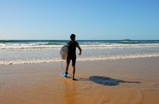 Free Surfer On Beach Royalty Free Stock Images - 2126739