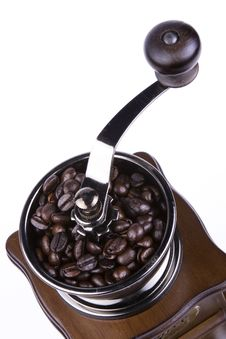 Free Coffee Grinder Close Up Stock Image - 2126821