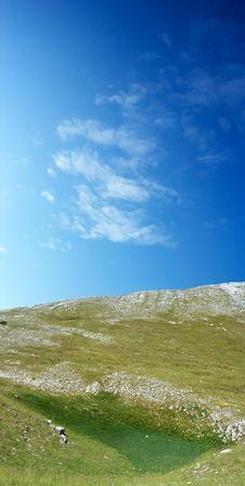 Free Dinara Mountain Over Blue Sky Royalty Free Stock Photo - 2127775