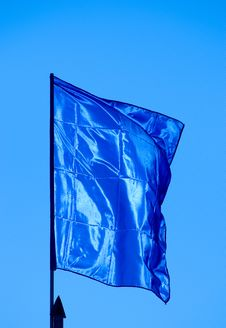 Free Blue Flag Waving Royalty Free Stock Photo - 2128245